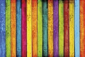 assi legno colorate allegre