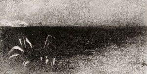 Mare BN (da Odilon Redon, To Egdar Poe The Eye like a Strange Balloon)